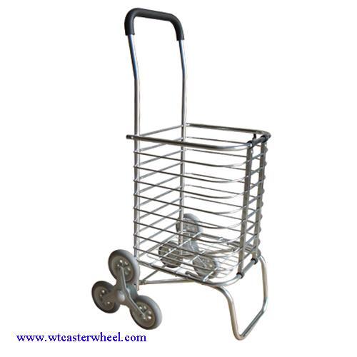 Amazing Aluminium Shopping Cart,climb Stairs Shopping Trolley, Laundry Basket Cart