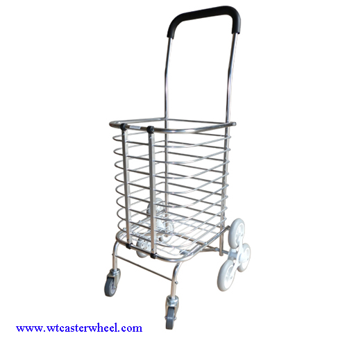 Perfect Aluminium Shopping Cart,climb Stairs Shopping Trolley,laundry Basket Cart